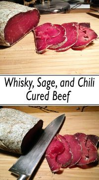 Here are some ideas and tips about hw to make your own cured meat. The good thing about curing your meat yourself is that you can customize everything to your liking, be it the meat or the spices you use in the marinade, the saltness, the dryness. Jerky Recipes, Meat Recipes, Cooking Recipes, Sushi Recipes, Cooking Games, Oven Recipes, Vegetarian Cooking, Easy Cooking, Barbecue Pork Ribs