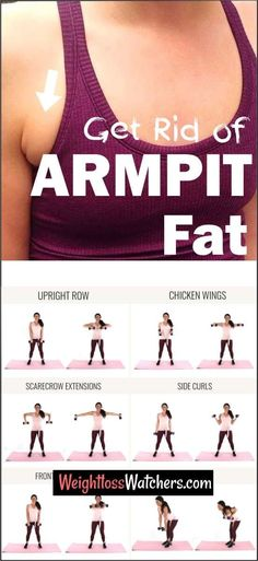 Armpit Workout, Arm Pit Fat Workout, Armpit Fat Exercises, Dumbbell Exercises, Stomach Exercises, Waist Workout, Lose Armpit Fat, Lose Belly Fat, Under Arm Fat