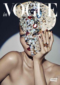 Karolin Wolter in Swarovski Elements for Vogue Germany's 2013
