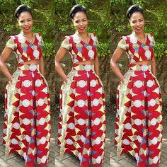 Aso Ebi Styles : Ankara Styles Top and Skirt…
