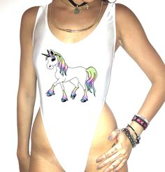 Rainow Unicorn bodysuit ** All items are one of a kind and hand made. They may vary in elements, or garments.