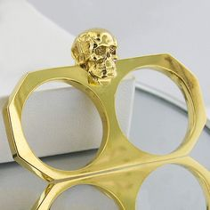 from fab com skull crusher two finger ring fsmnyc skull crusher two ...