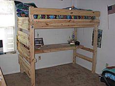 Loft Bed Made of Pallet 4