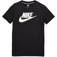 Nike Older Girls Gfx Tee (£25) ❤ liked on Polyvore featuring tops, t-shirts, nike, nike top, nike tee and nike t shirt