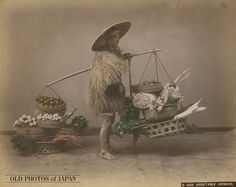OLD PHOTOS of JAPAN: 野菜売り 1890年代