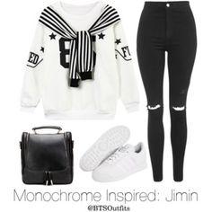 Monochrome Inspired: Jimin