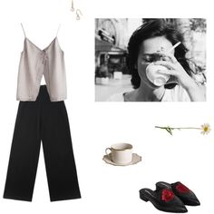 A fashion look from December 2016 featuring Yves Saint Laurent pants and Majorica earrings. Browse and shop related looks.