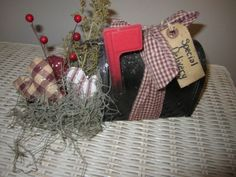 Primitive Valentine Crafts   Primitive Valentine Mailbox   Valentines Craft/Decor