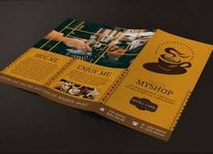 Refreshing Coffee Shop Brochure Designs  Brochures Graphic