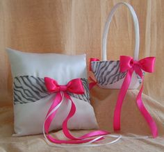 Pink and zebra wedding