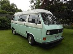 VW t25 camper van two tone -like this, only blue at the bottom...