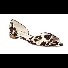 """Alice+ Olivia Leopard Flat This Alice + Olivia flat gives you the look of a classic d'Orsay in a fabulous-fitting low-profile silhouette. Snake-embossed lambskin leather d'Orsay upper. Leather lining, padded footbed, and leather sole. Pointed toe. Flat heel. """"Hilary"""" is made in Brazil.  No box. Alice + Olivia Shoes Flats & Loafers"""