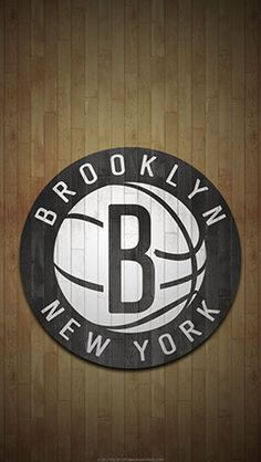 Brooklyn Nets Mobile hardwood Logo Wallpaper