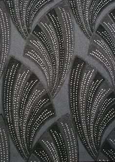 "sweetestesthome: ""Black Novella Wallpaper ~ Art Decor Collection by Graham & Brown. This washable vinyl wallpaper is embellished with silver glitter which accentuates the bold fan pattern & is fitting to the Art Deco style. Click to check a cool..."