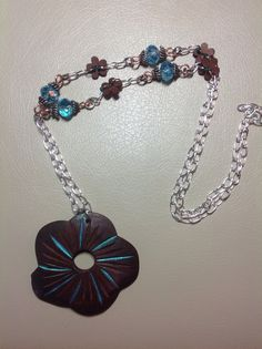 Coconut flower with crystal beads