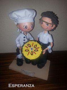 Fofuchas y otras manualidades: La cocinera y su camarero