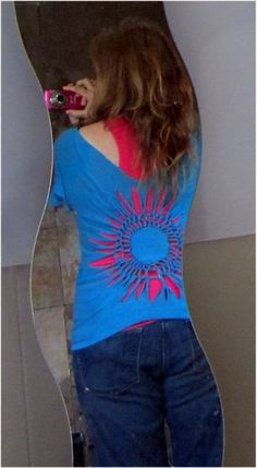 """Picture of braided flower tshirt - definitely a """"must make""""!"""