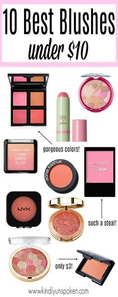 Today I'm sharing the best drugstore blush products- all of which are under $10, are great quality, and will give you that perfect color and glow!