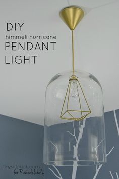 Combine some metal tubing and a glass hurricane jar with a basic pendant lamp kit to create this beautiful and modern-meets-classic himmeli pendant light.