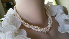 SALE Two Strand Beautiful Ivory White by weddingbellsdesigns