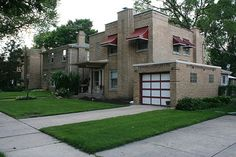 art deco red brick house - Поиск в Google