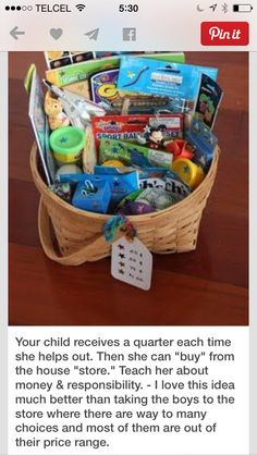 Great idea for rewards for completing homework, music lesson practice, reading, chores, ect...