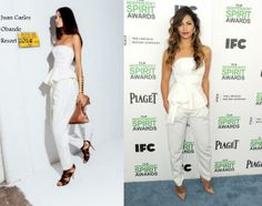 Camila Alves In Juan Carlos Obando Resort - Film Independent Spirit Awards 2014. RE-tweet and favorite it here: https://twitter.com/MyFashBlog/status/440015339594608641/photo/1
