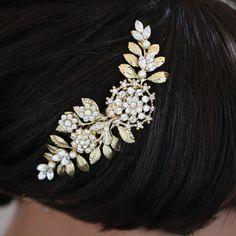 Or cheveux de mariée mariage cheveux pièce Vintage par LuluSplendor