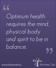 Strive for this balance.. Really work for it. And if you do, your stress will be reduced dramatically!  Mind, body and spirit in balance