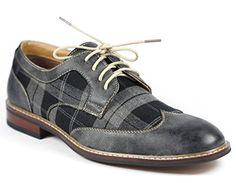 Ferro Aldo M-19266A Gray Mens Lace Up Plaid Dress Classic... https://www.amazon.com/dp/B00PKJ5X44/ref=cm_sw_r_pi_dp_x_b3lOxbPT3J1TS