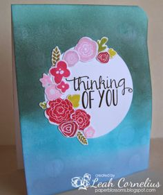 PTI Mini Blooms, Watercolor Splats,Paper Blossoms: Thinking of You~MIM