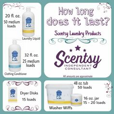 New Laundry products available Sept. 1st, 2015. Place an order at: http://ashleypaige.scentsy.us/