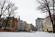 Main Square in Rostock Germany