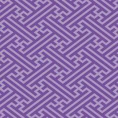 日本伝統文様 紗綾形 紫