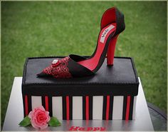 It is my first hand made High Heel Shoe. Chocolate cake with chocolate ganache and fresh cream filling. I also enjoyed working with Flexi Pa...