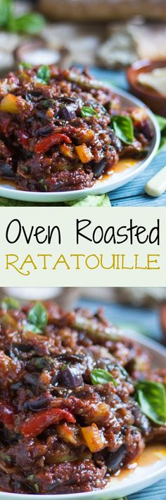 Oven Roasted Ratatouille is an extremely versatile dish, and is fantastic hot or cold. It freezes well, so keep some in the freezer for emergencies. Vegetable Side Dishes, Side Dishes Easy, Side Dish Recipes, Main Dishes, Dinner Recipes, Dinner Ideas, Baked Ratatouille Recipe, Slow Cooker Recipes, Cooking Recipes