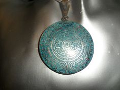 TAXCO Aztec .925 Sterling Silver Necklace Pendant