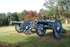 """French Revolutionary War Cannons At Yorktown Battlefield. Yorktown, Virginia. On October 19, 1781, a British army under General Charles Lord Cornwallis was forced to surrender to General Washington's combined American and French army. Upon hearing of their defeat, British Prime Minister Frederick Lord North is reputed to have said, ""Oh God, it's all over."" And it was. The victory secured independence for the United States and significantly changed the course of world history."""