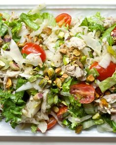 Fennel, Cherry Tomato & Chicken Salad with Toasted Pistachios