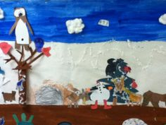 Animals in Winter Completed Mural  /Hibernation/Animals in Winter and Penguins are posted on my WINTER BOARD.