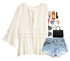 """""""20 DAYS TILL 5SOSSSSS"""" by mylifeassyd ❤ liked on Polyvore featuring H&M, Ray-Ban, tarte, MICHAEL Michael Kors, Alex and Ani and Chanel"""
