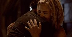 Clarke and Bellamy are finally in each other's arms.