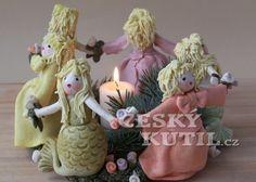 Christmas candle holder from salt dough Christmas Candle Holders, Christmas Diy, Christmas Ornaments, Salt Dough, Happy Holidays, Clay, Candles, Holiday Decor, Handmade