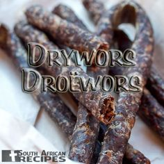 Droëwors is a South African snack food, based on the traditional, coriander-seed spiced boerewors sausage. South African Dishes, South African Recipes, Africa Recipes, Snack Recipes, Cooking Recipes, Snacks, Oven Recipes, Recipies, Kos