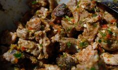 Asun is a popular Nigerian barbecued goat meat with pepper sauce. It serves as an appetizer and always classified as a finger food. Asun is well-known in the Western part of Nigeria, among the Yoruba tribes. When Nigerians abroad crave for Asun, they remember their family gatherings or pleasant memories from home.