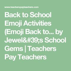 56 best education forms images on pinterest classroom decor back to school emoji activities emoji back to school activities fandeluxe Choice Image