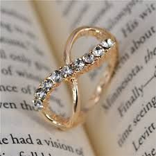 Hot Sale Fashion Crystal Rings High Quality Rhinestone Infinity Ring Endless Love Symbol Ring 3 Size For Women - FASHION BookFace - Leading Global Online Shopping Site Vintage Gold Engagement Rings, Vintage Rings, Bridal Rings, Wedding Rings, Bling Bling, Friendship Rings, Aquamarine Rings, Cute Rings, Love Ring