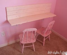 built in wall desk for kids, bedroom ideas, diy, painted furniture, storage ideas