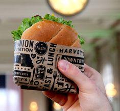 Ideas For Food Truck Design Burger Burger Branding, Sandwich Packaging, Food Branding, Food Packaging Design, Restaurant Branding, Restaurant Design, Packaging Ideas, Bottle Packaging, Burger Bar