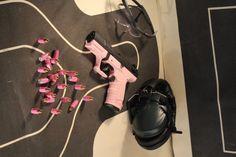 Pink guns need pink ammo.  Shoot pink